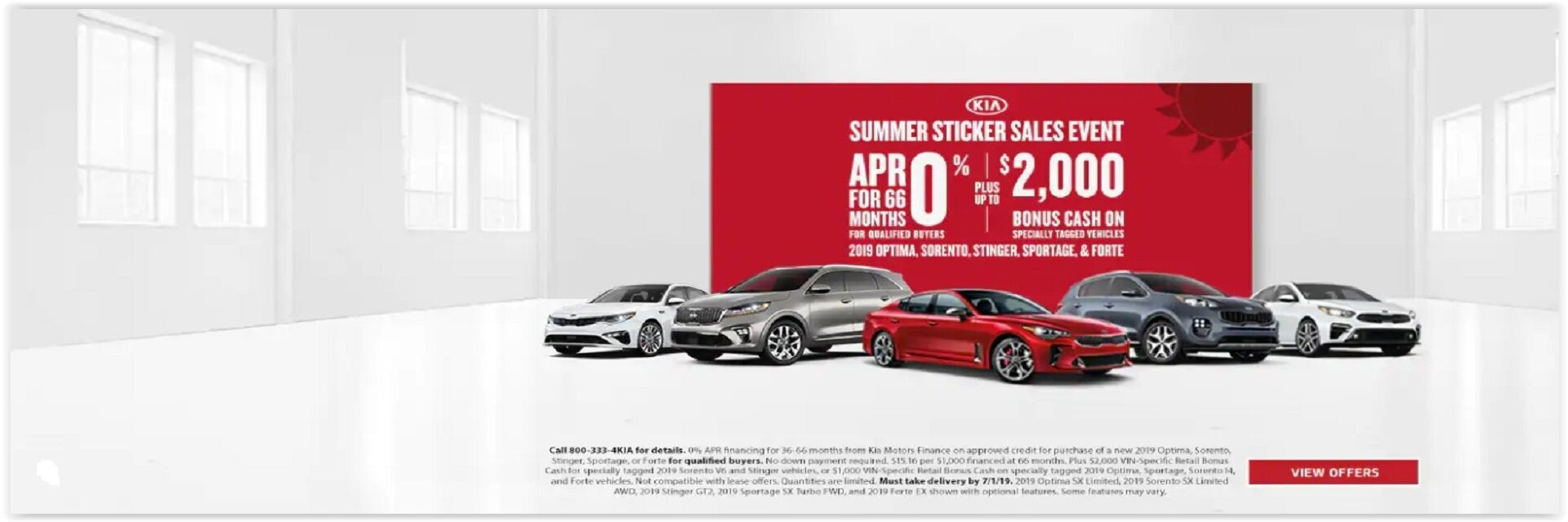 Kia Summer Sticker Sales Event Going on Now