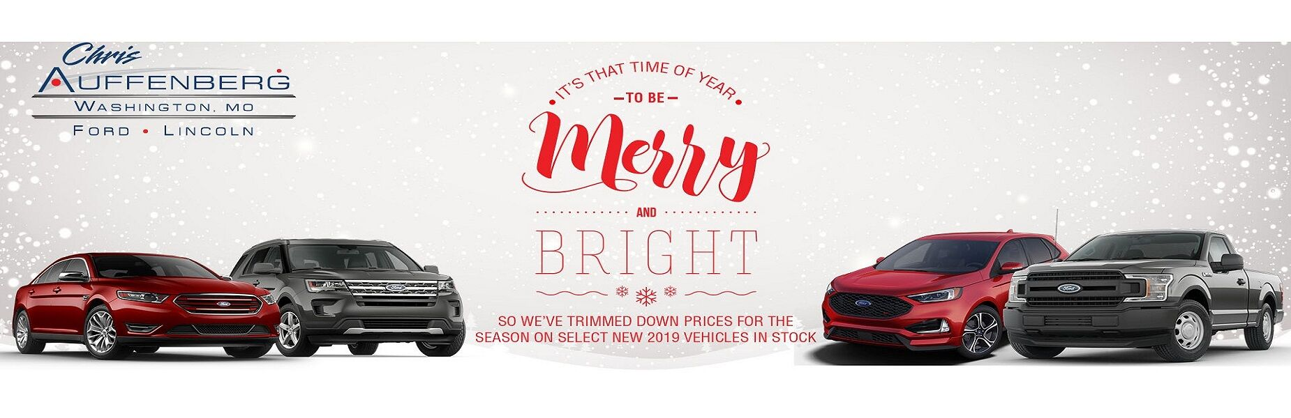 Chris Auffenberg Ford's Merry and Bright New 2019 Markdowns