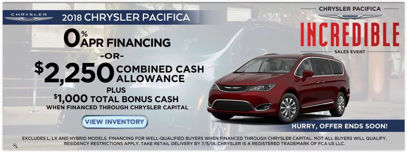 Chrysler Pacifica Incredible Sale at Herrin, IL