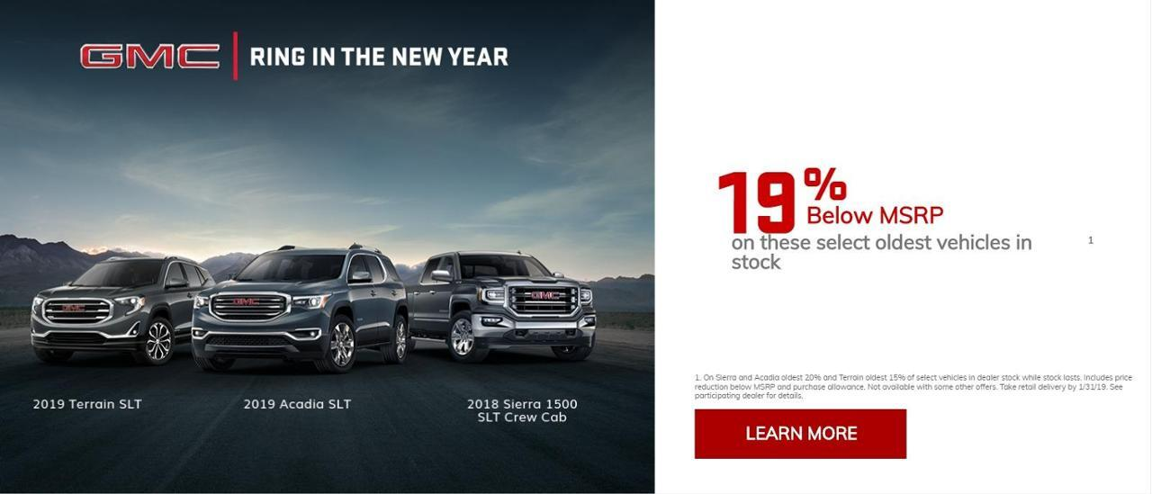 Up to 19% off Select GMC Models at Auffenberg Chevy Buick GMC of Farmington