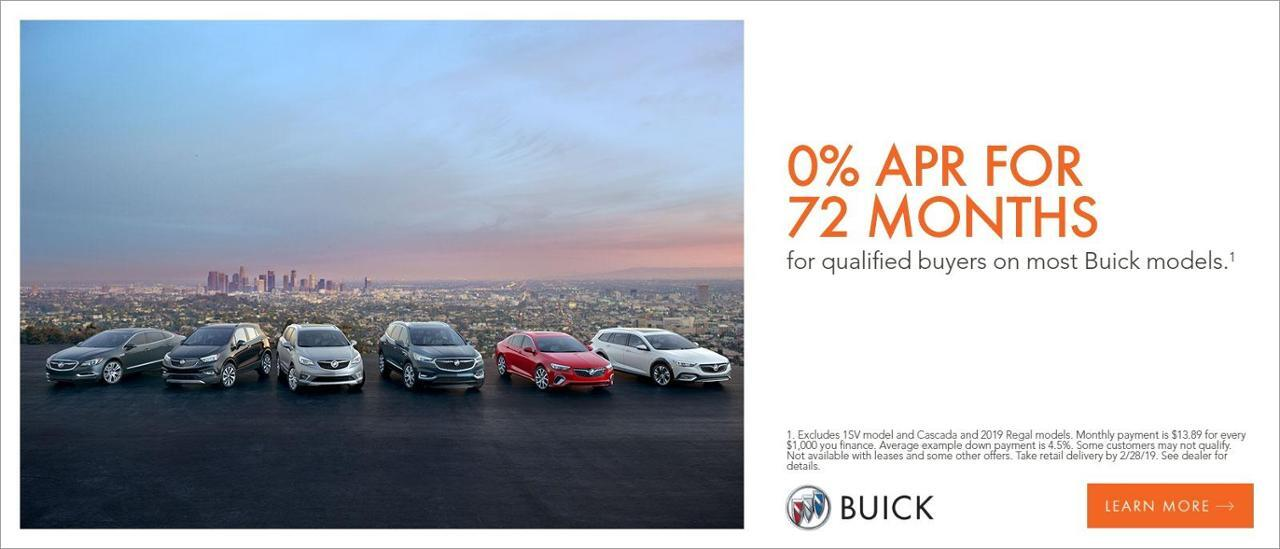 0% for 72 mos on Buick for Well Qualified Buyers at Carbondale