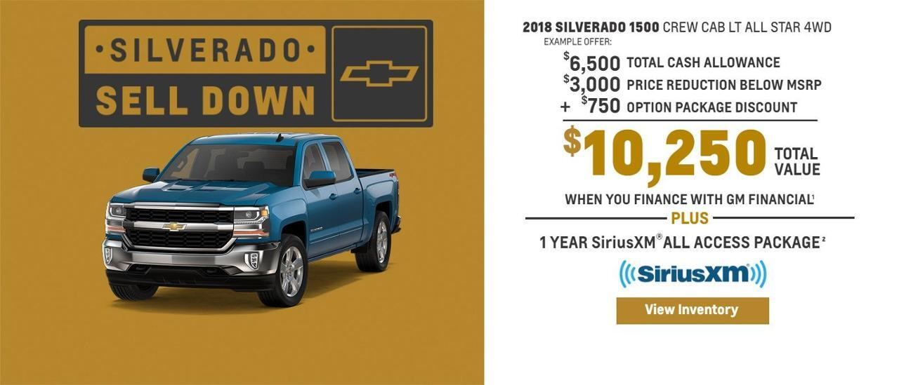 Chevy Silverado Selldown Going on Now at Auffenberg Chevrolet Buick GMC of Farmington