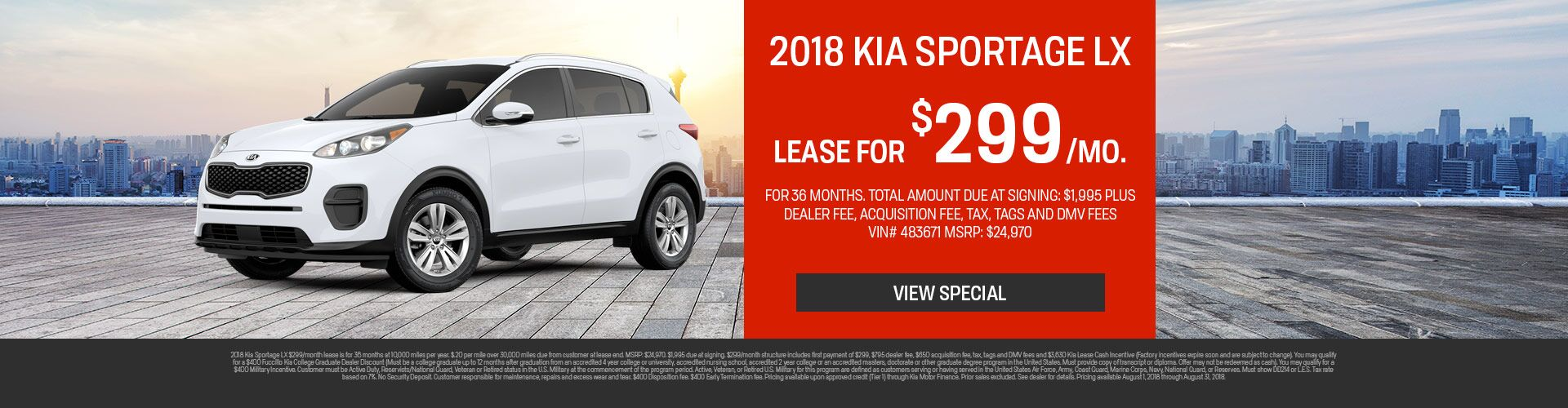 August Sportage Special