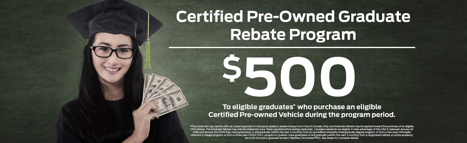 Certified Pre-Owned Graduate Rebate