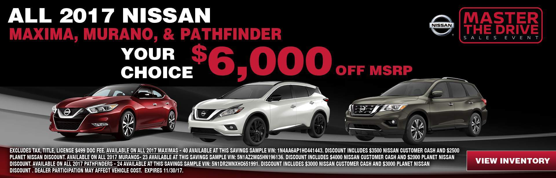 6000 off Nissan