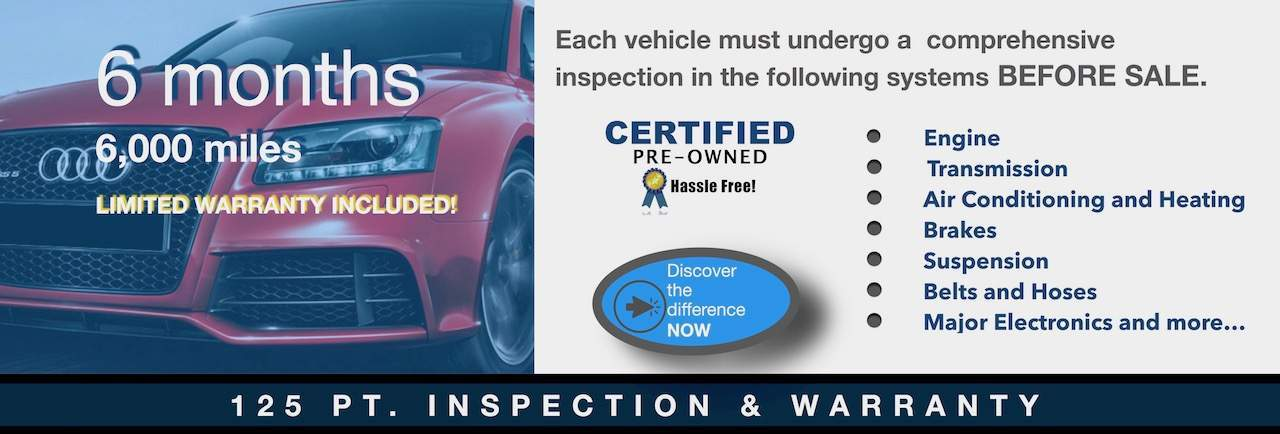 125 pt. Inspection - Warranty