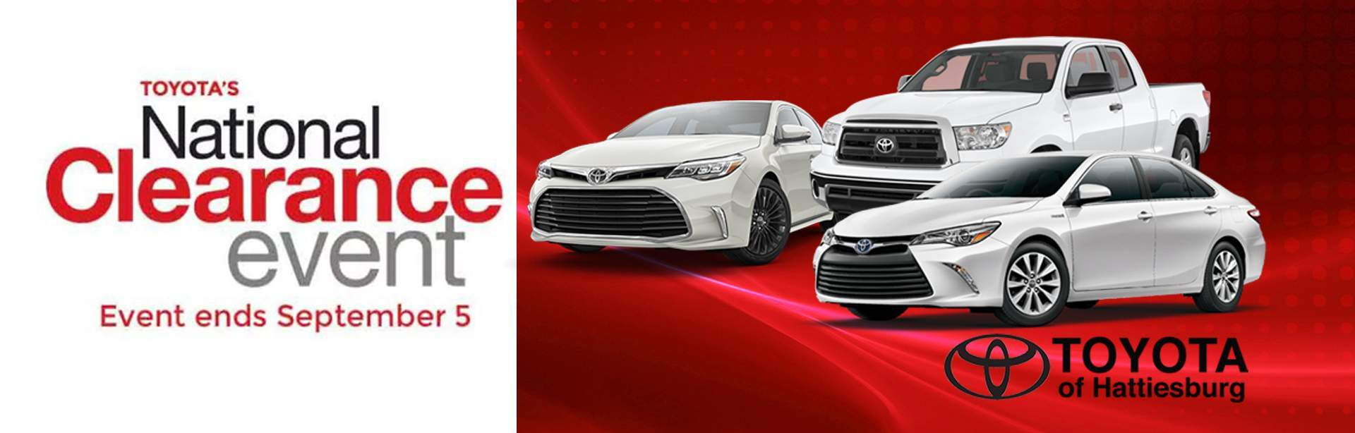 Toyota's National Clearance Event