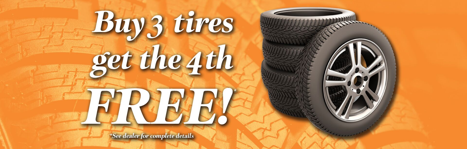 buy three tires get one free