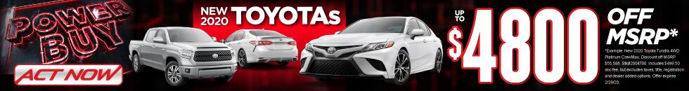 SRP Banner - 2020 Toyotas