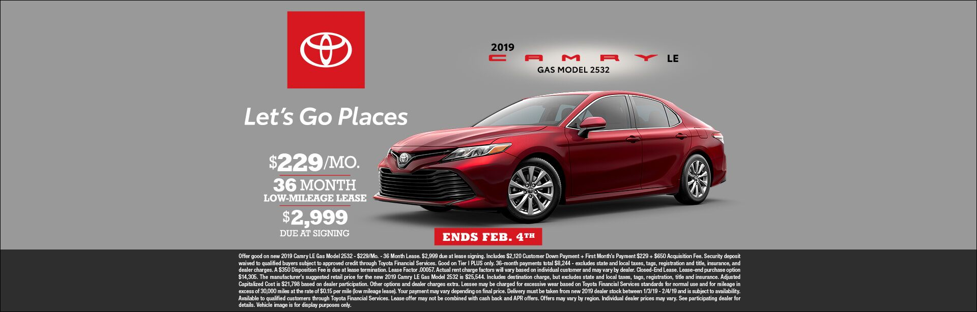 Camry Lease Jan 2019