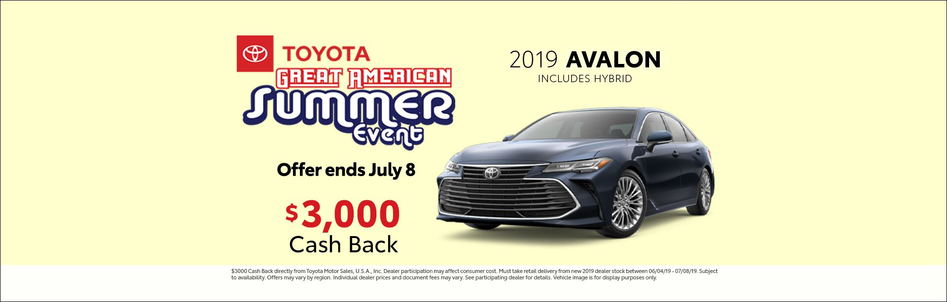 2019 June CIN Toyota Great American Sales Event Avalon