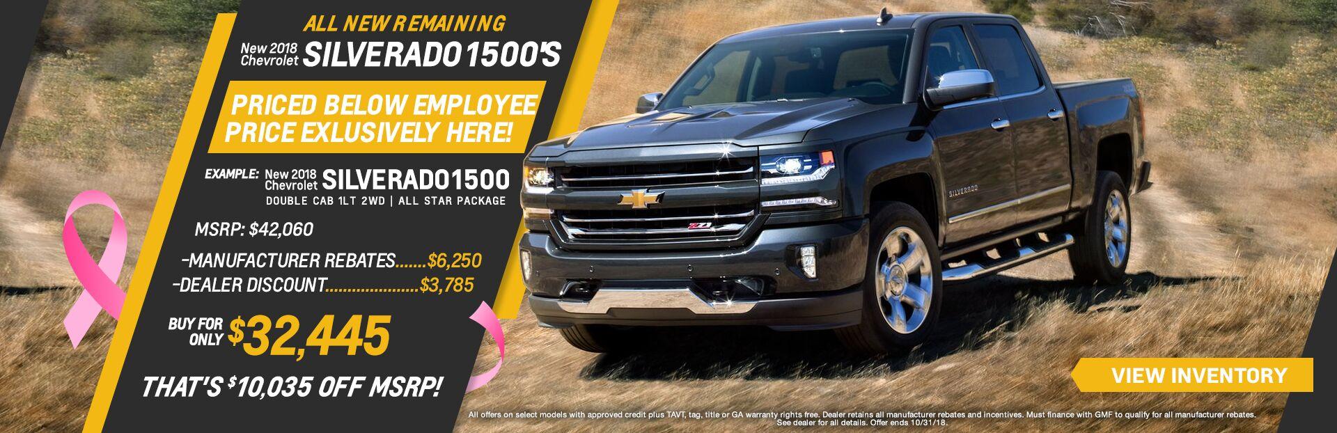 2018 Chevrolet Silverado 1500u0027s
