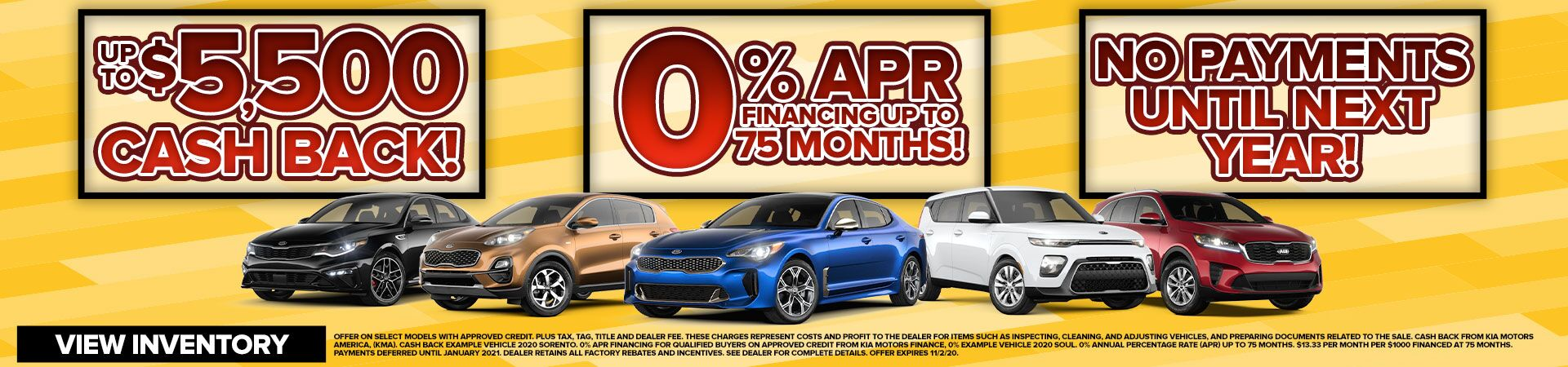 0% APR FINANCING UP TO 75 MONTHS