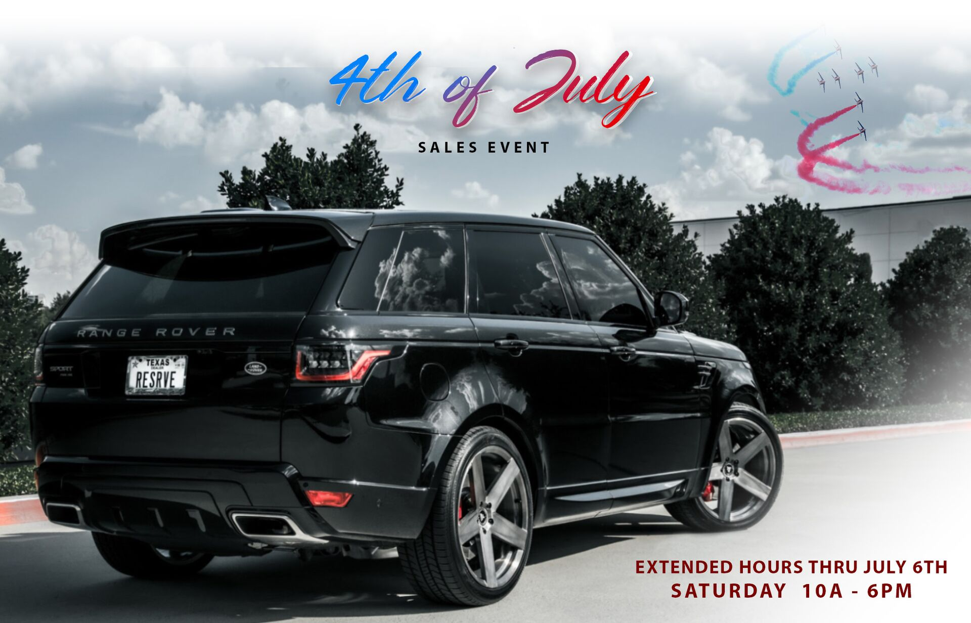 Forth of July Sales Event