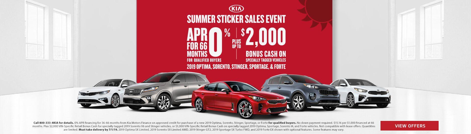 Kia Summer Sticker Sales Event