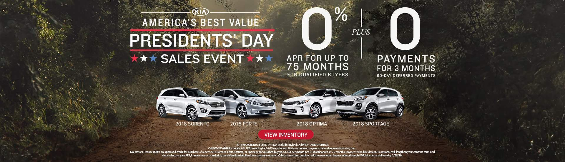 Presidents Day Sales Event at Seelye Kia of Holland