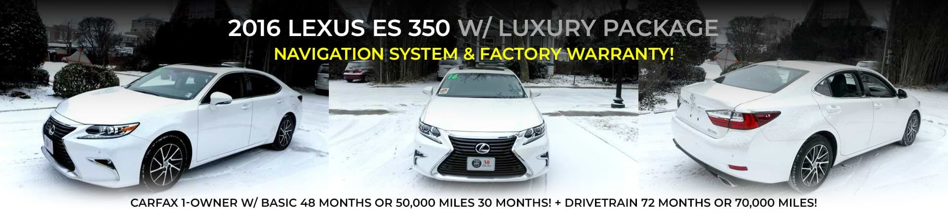 2016 Lexus ES 350 at WBM of Arlington
