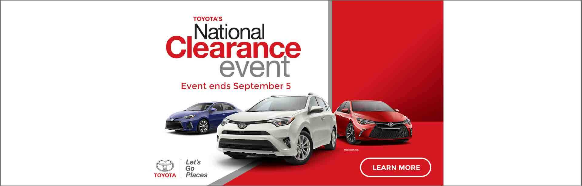 2017 National Clearance Event at Parkway Toyota