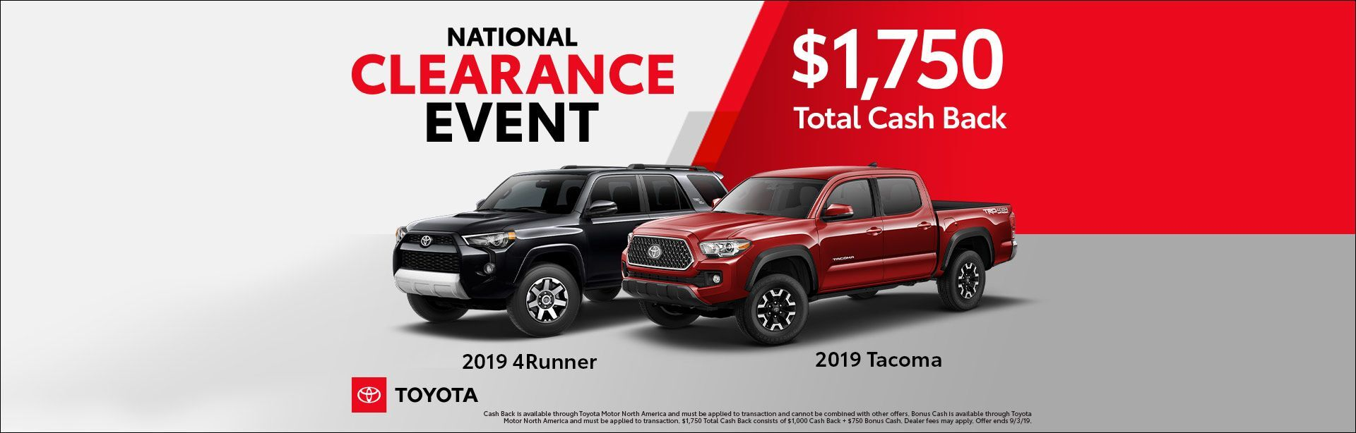 TACOMA&4RUNNER NAT CLEARANCE EVENT AUGUST 2019