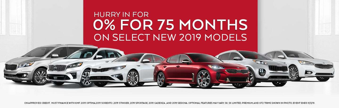 0% for 75 months on select 2019 models