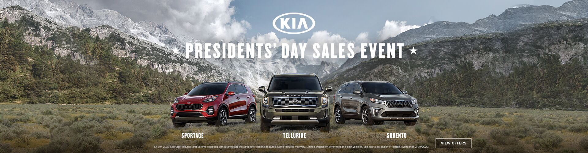 Kia President's Day Sales Event