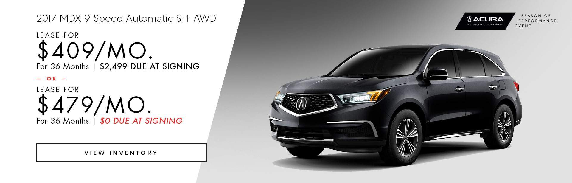 2017 Acura MDX 9 Speed Automatic SH-AWD
