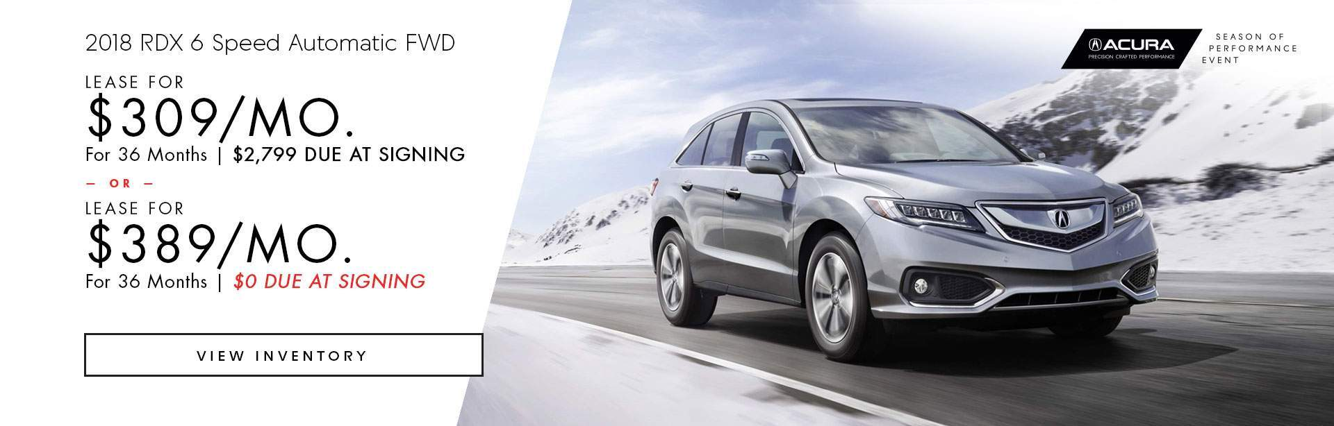 2018 Acura RDX 6 Speed Automatic FWD
