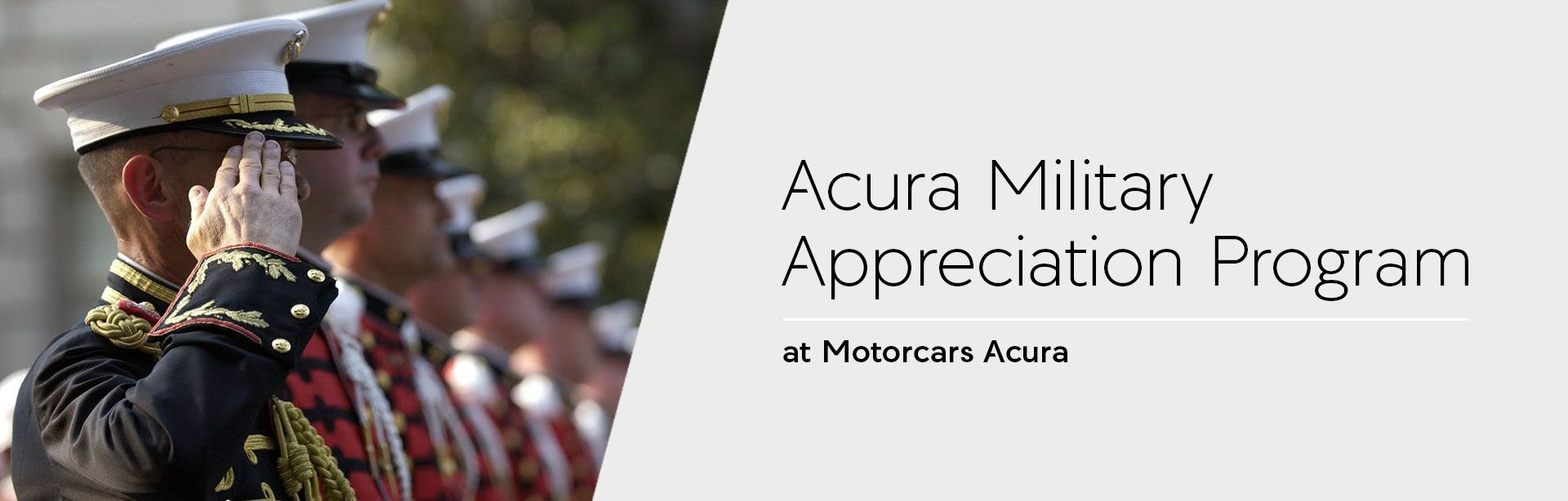 Acura Military Appreciation Program