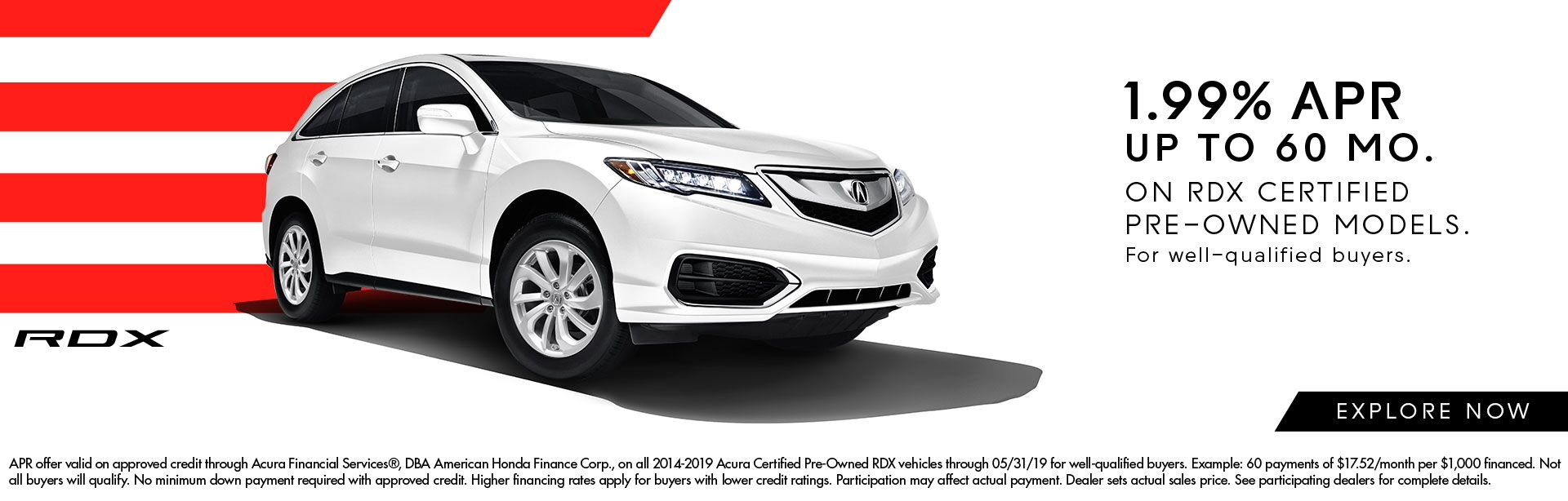 1.99% APR Incentives on Certified RDX at Motorcars Acura