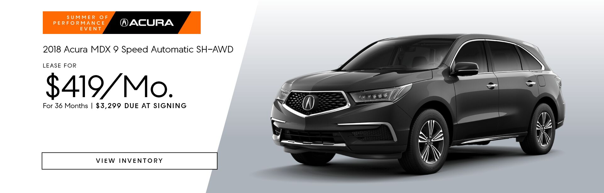 2018 MDX 9 Speed Automatic SH-AWD