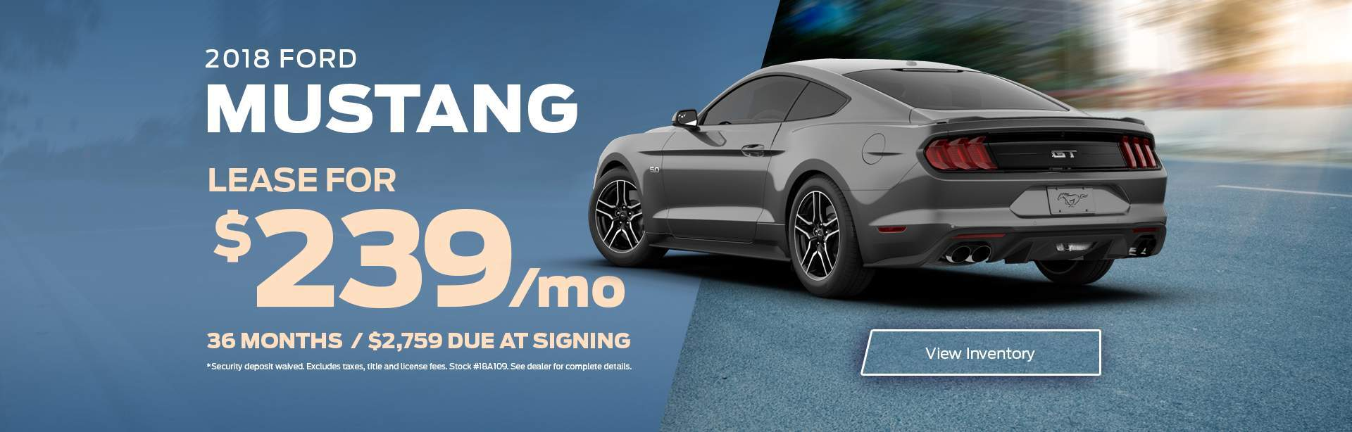 2018 Mustang Lease