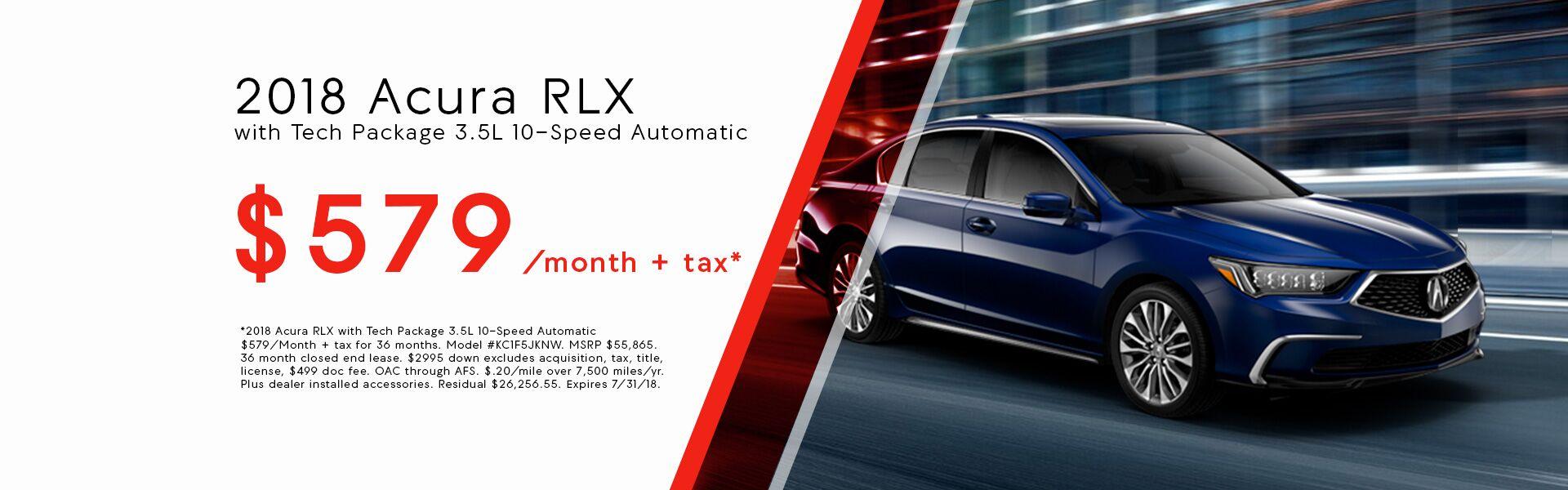 2018 Acura RLX