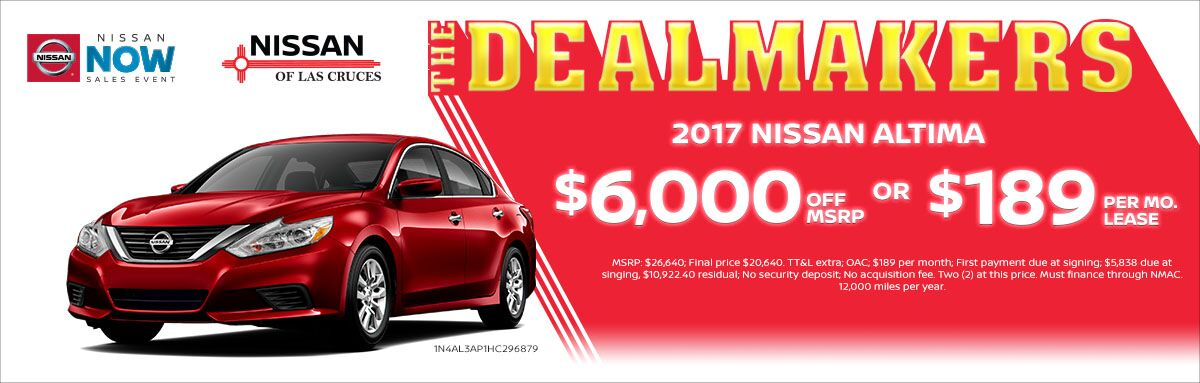 2017 Nissan Altima $6,000 off MSRP