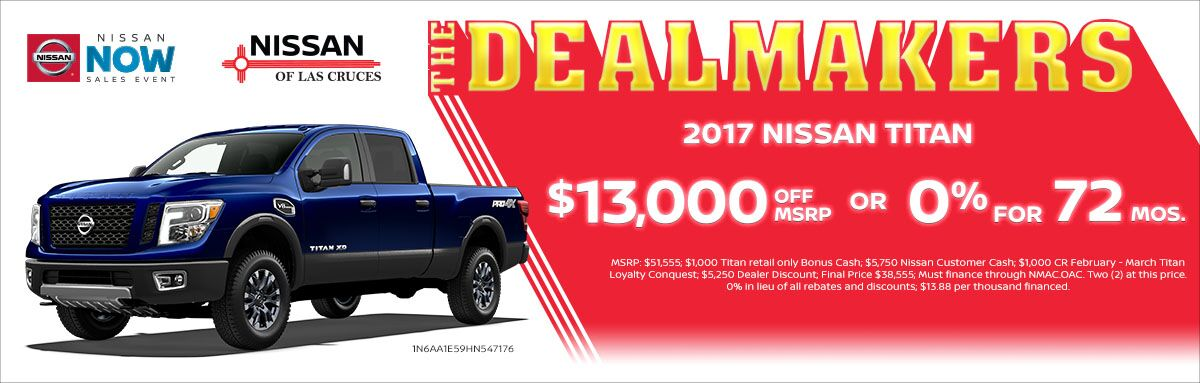 2017 Nissan Titan $13,000 off MSRP
