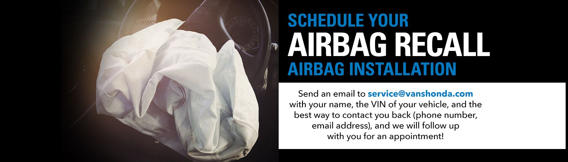 Airbag Recall - Service Email