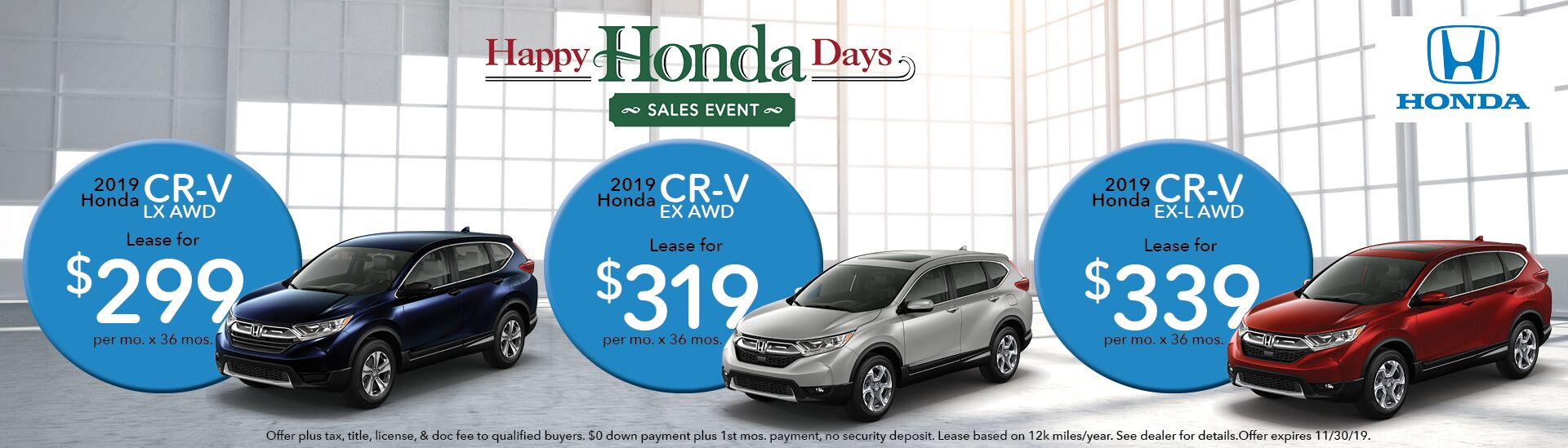 Honda CRV Sales Event