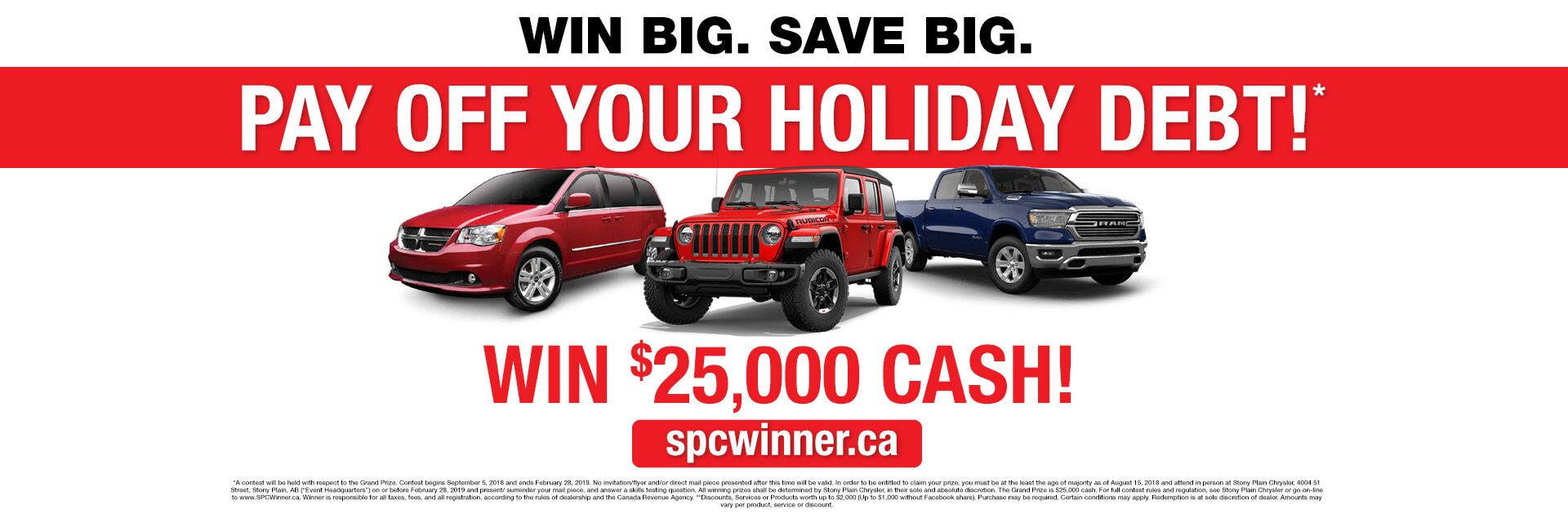 Win Big. Save Big.