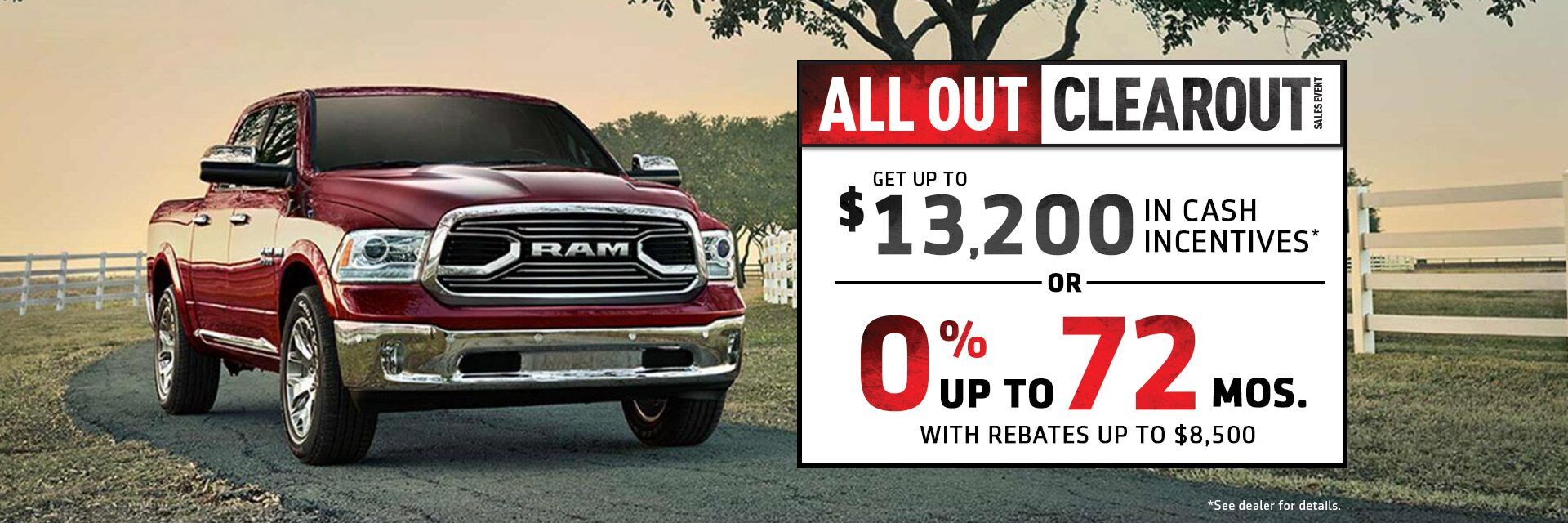 All Out Clearout Sales Event at Stony Plain Chrysler RAM