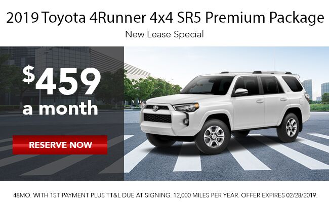 2019 Toyota 4runner Lease Offer
