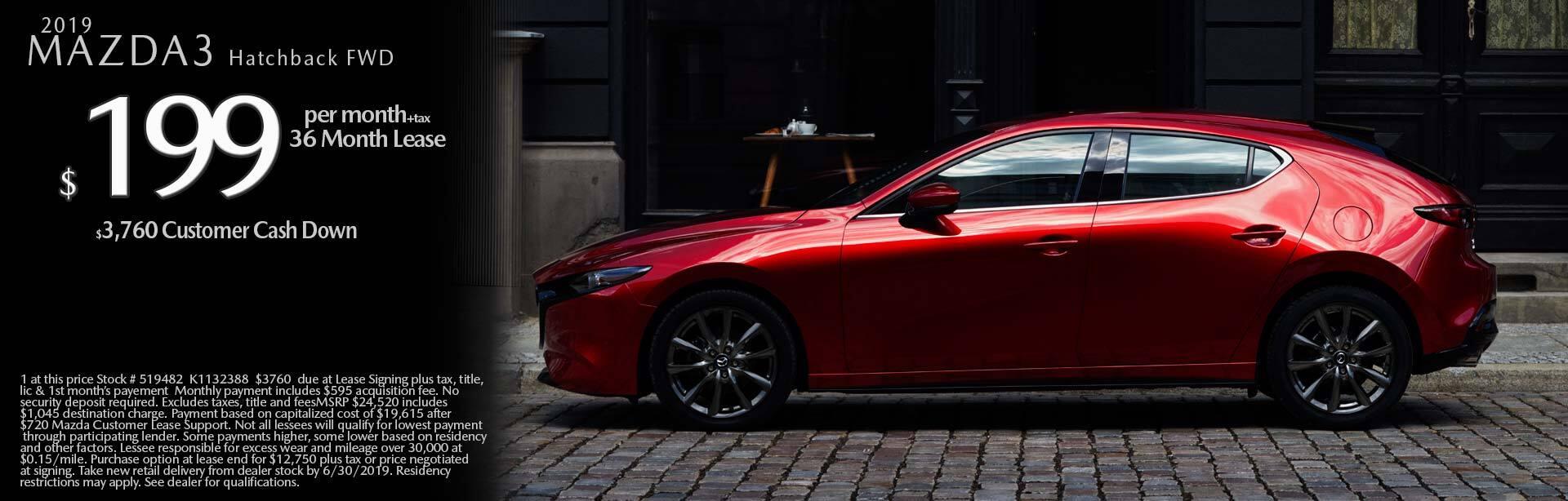 2019 Mazda Mazda3 Hatchback Hatchback 2WD