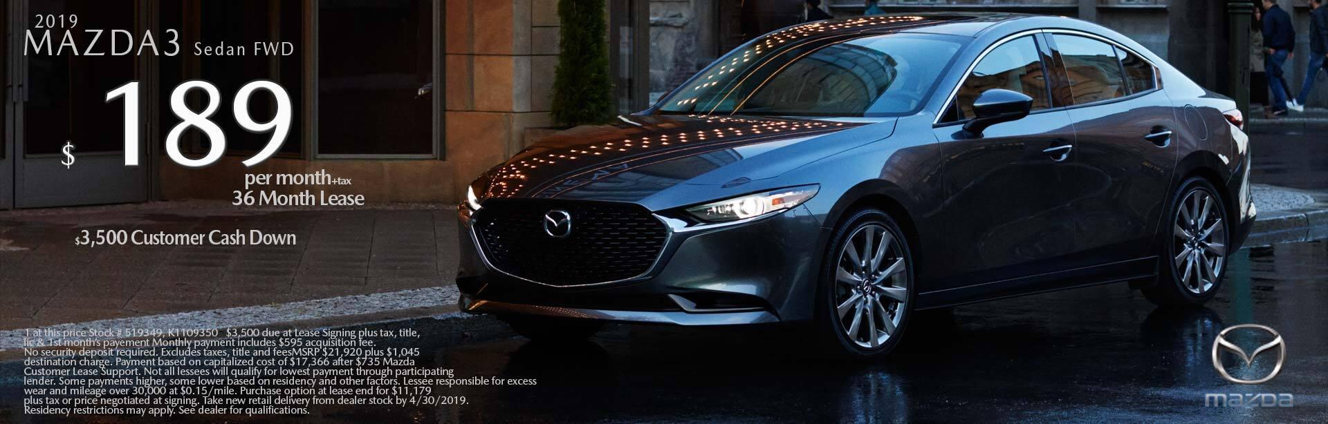 2019 Mazda Mazda3 4-Door 2WD
