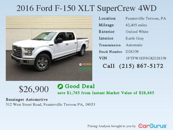 2016 Ford F-150 SuperCrew XLT - 4x4