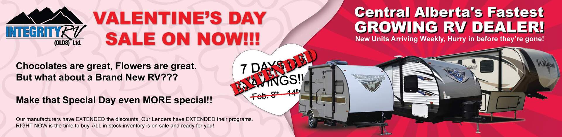 Valentine's Day Sale | Integrity RV