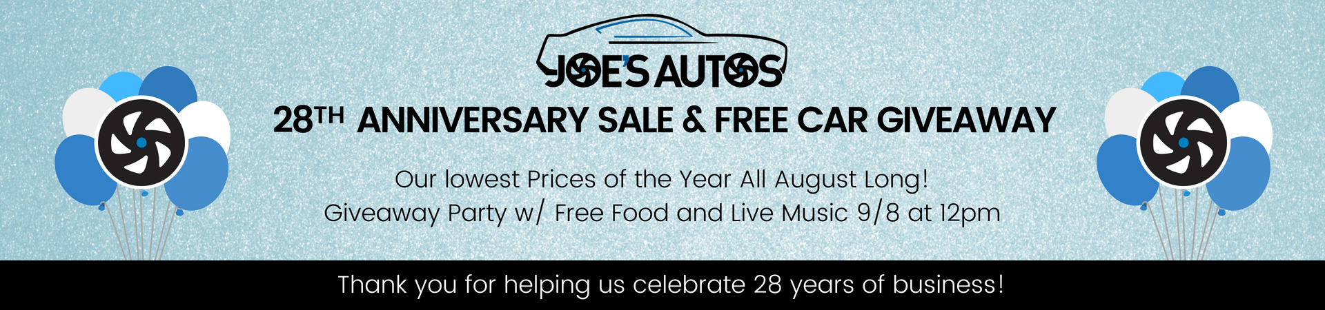28th Anniversary Sale
