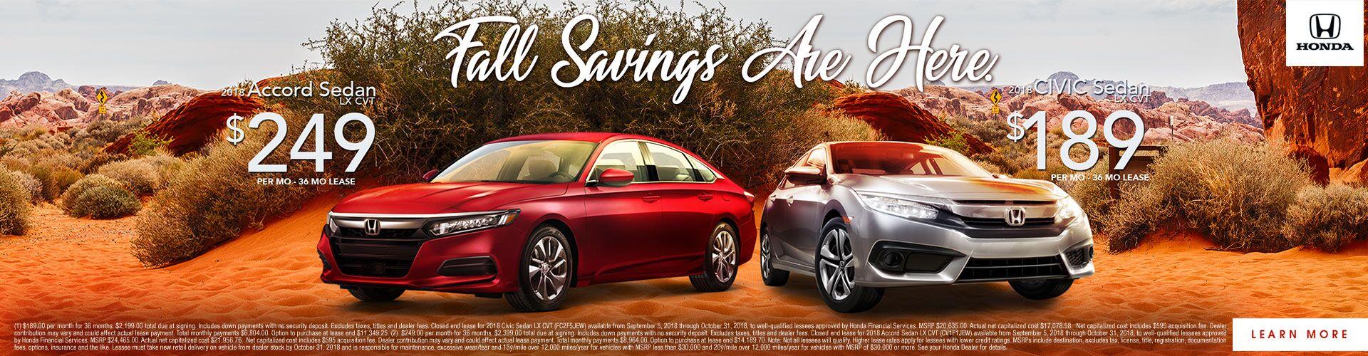 Fall Savings Are Here!