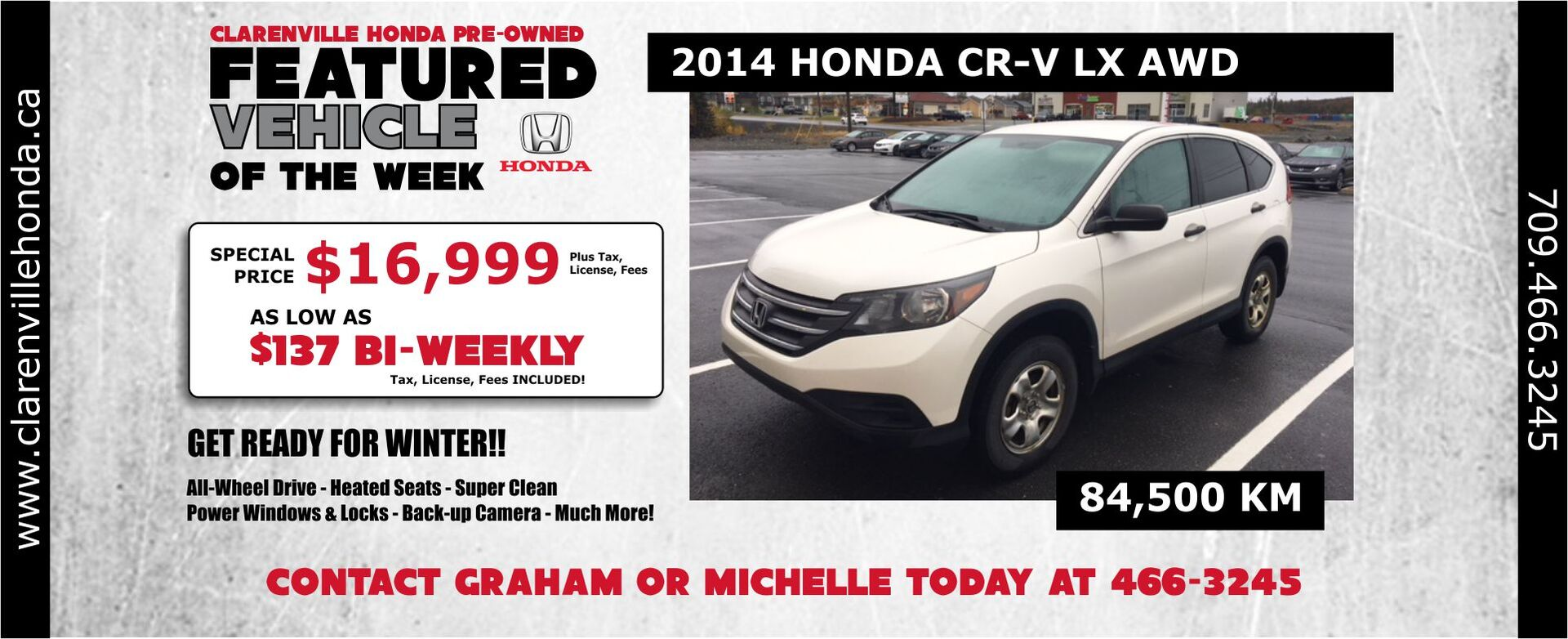 Used Feature - 2014 CR-V LX AWD