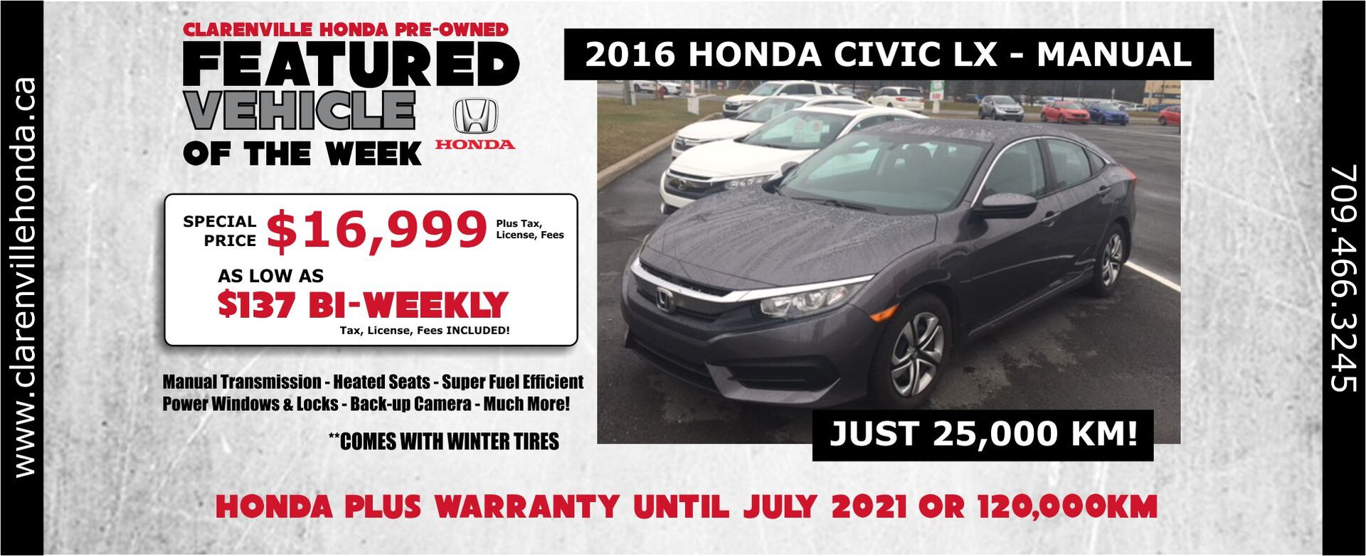 Pre-owned Feature 2016 Civic LX