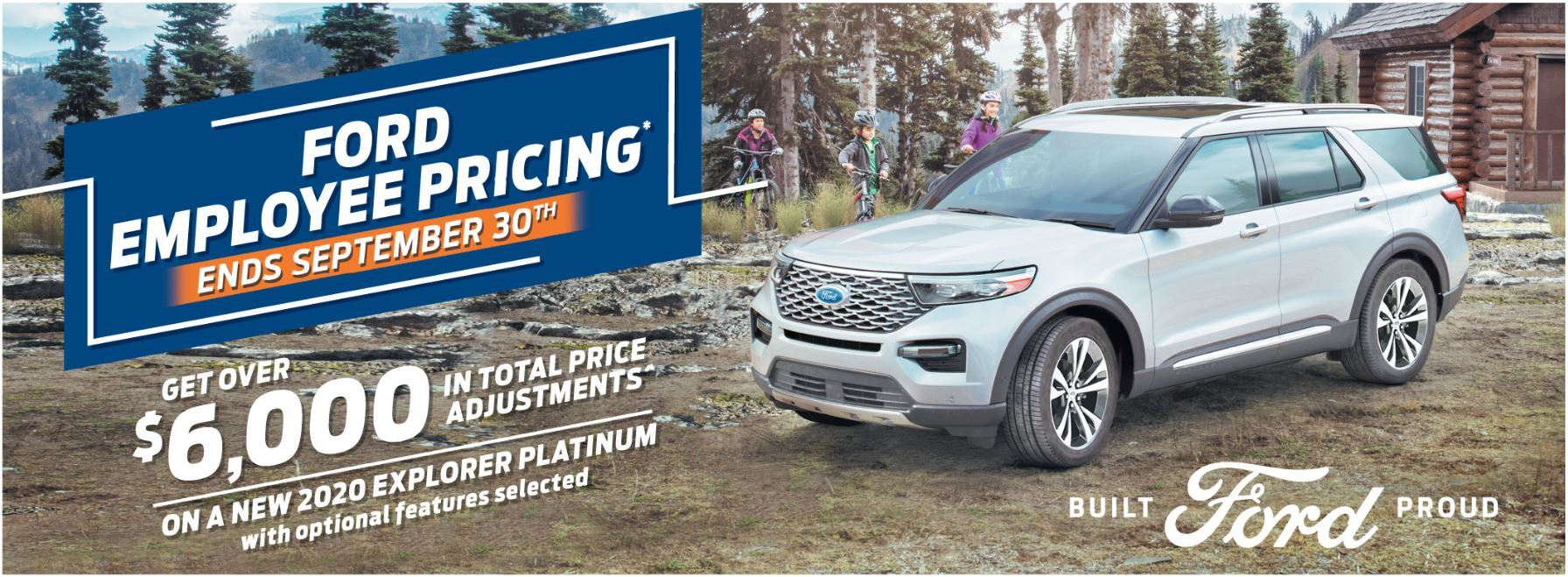 Employee Pricing on the All New 2020 Ford Explorer