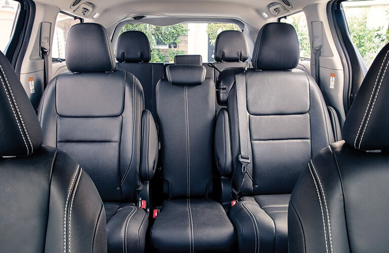 Rear seats in the 2020 Toyota Sienna