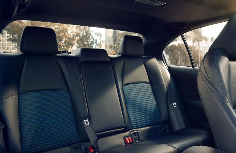 Rear seats in the 2020 Toyota Corolla